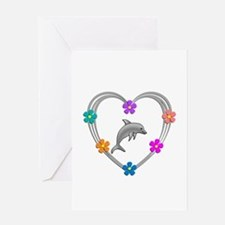 Dolphin Heart Greeting Card