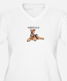 Lazy Airedale Terrier Laying Dow Plus Size T-Shirt