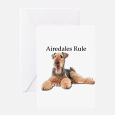 Airedales Rule Greeting Cards