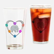 Elephant Heart Drinking Glass