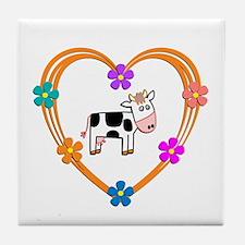 Cow Heart Tile Coaster