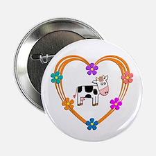"""Cow Heart 2.25"""" Button"""