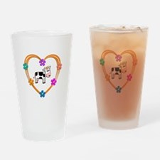 Cow Heart Drinking Glass