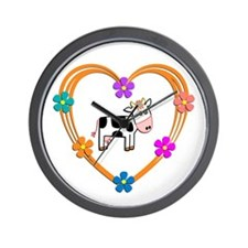 Cow Heart Wall Clock