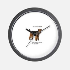Guilty Airedale Shows No Remorse Wall Clock