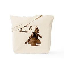 Turn & Burn. Western Cowgirl. Tote Bag