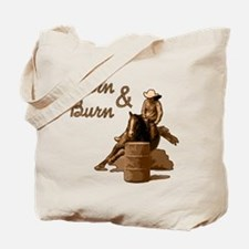 Turn & Burn. Western Cowgirl. Tote Bag
