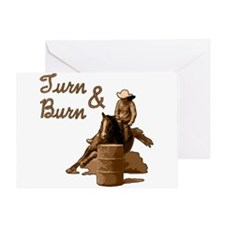 Turn & Burn. Western Cowgirl. Greeting Card