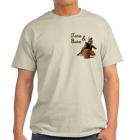 Turn & Burn. Western Cowgirl. Light T-Shirt
