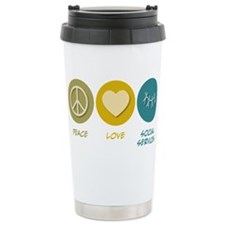 Cute Peace love and social work Travel Mug