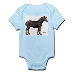Percheron Horse Infant Creeper