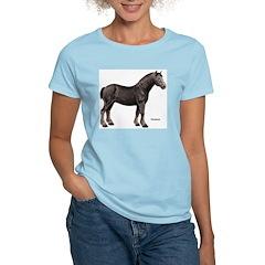 Percheron Horse Women's Pink T-Shirt