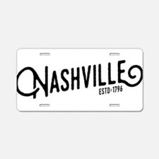 Nashville Tennessee Aluminum License Plate