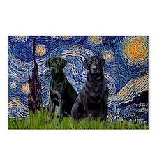 Starry Night & Black Labrador Postcards (Package o