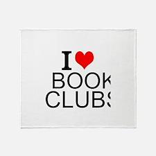 I Love Book Clubs Throw Blanket
