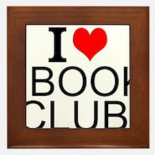 I Love Book Clubs Framed Tile