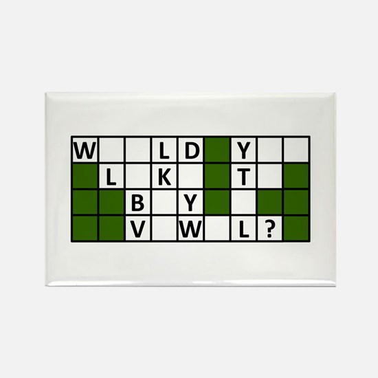 Cute Puzzles Rectangle Magnet