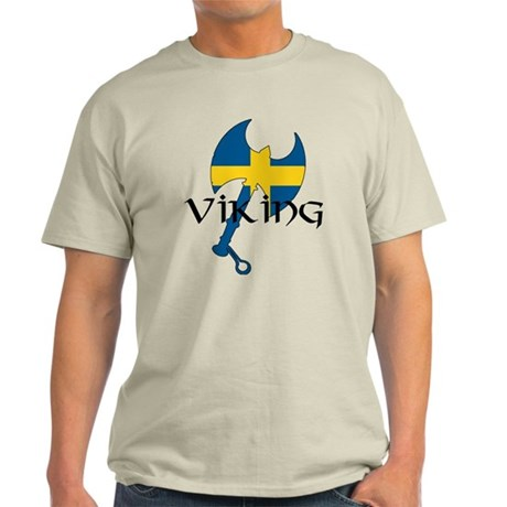 Swedish Viking Axe Light T-Shirt