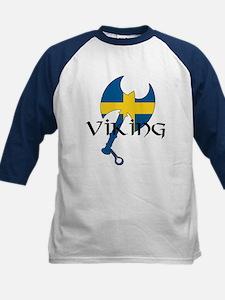 Swedish Viking Axe Kids Baseball Jersey