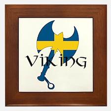 Swedish Viking Axe Framed Tile