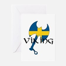 Swedish Viking Axe Greeting Cards (Pk of 10)