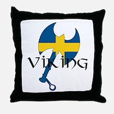 Swedish Viking Axe Throw Pillow