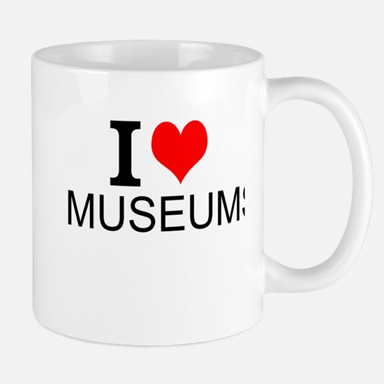I Love Museums Mugs