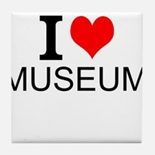 I Love Museums Tile Coaster