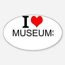 I Love Museums Decal
