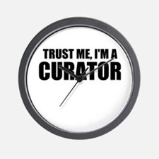 Trust Me, I'm A Curator Wall Clock