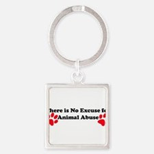 Funny Animal cruelty Square Keychain