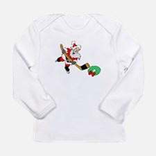 Funny Hockey christmas Long Sleeve Infant T-Shirt