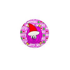 Christmas Pig Mini Button