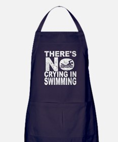 There's No Crying In Swimming Apron (dark)