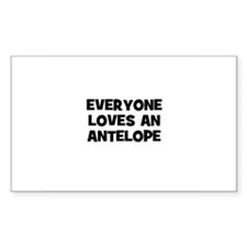 everyone loves an antelope Rectangle Decal