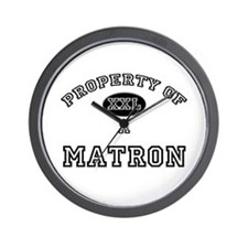 Property of a Matron Wall Clock