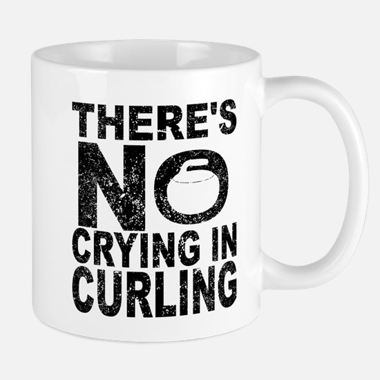 There's No Crying In Curling Mugs