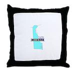 True Blue Delaware LIBERAL Throw Pillow