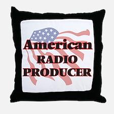 American Radio Producer Throw Pillow