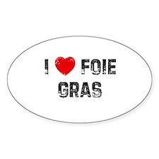 I * Foie Gras Oval Decal