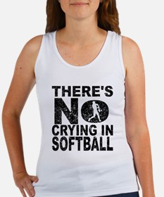 There's No Crying In Softball Tank Top