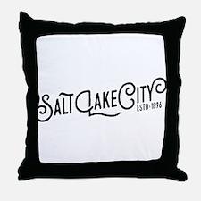 Salt Lake City Throw Pillow