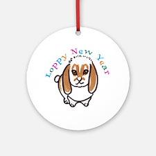 Loppy New Year Round Ornament