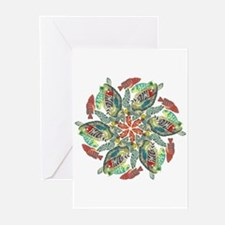 Cool Colorful turtle Greeting Cards (Pk of 20)