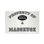 Property of a Masseuse Rectangle Magnet (10 pack)