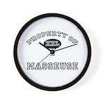 Property of a Masseuse Wall Clock