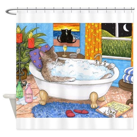 Cat 567 Shower Curtain By ADMIN CP14357150