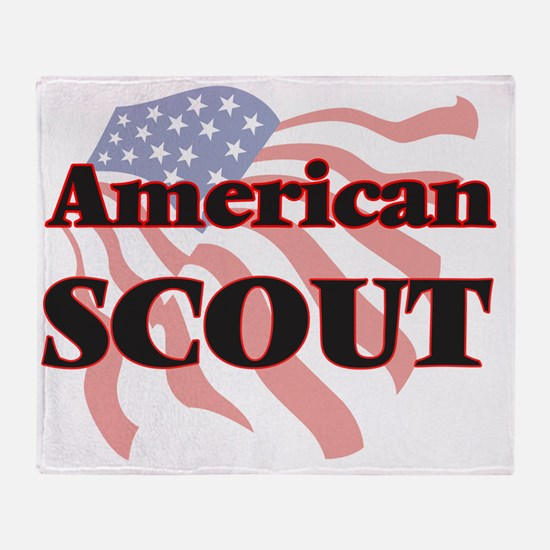 Cute Girl scout Throw Blanket