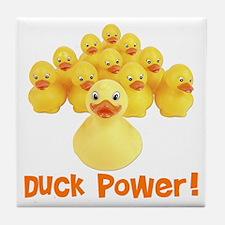 Duck Power! Tile Coaster