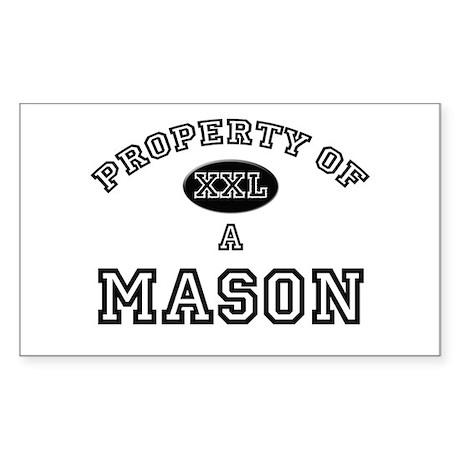 Property of a Mason Rectangle Sticker